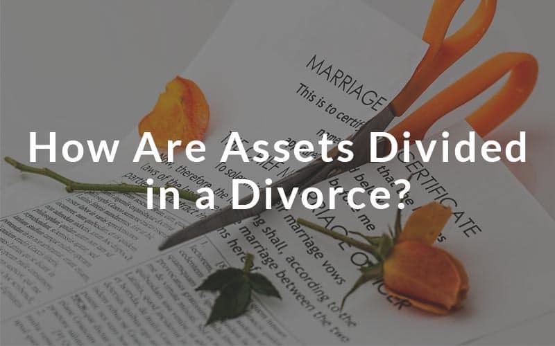 Assets divide in a divorce